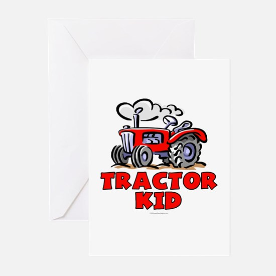 Red Tractor Kid Greeting Cards (Pk of 20)