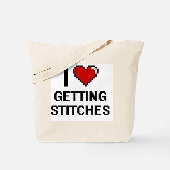 I love Getting Stitches digital design Tote Bag