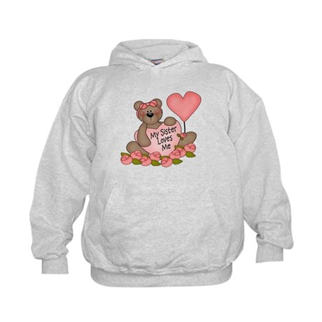My Sister Loves Me CUTE Bear Kids Hoodie