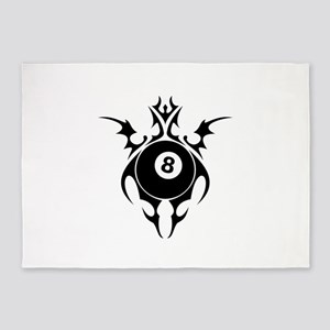 tribal eightball billiards 5'x7'Area Rug