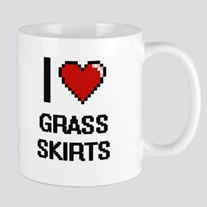 I love Grass Skirts digital design Mugs
