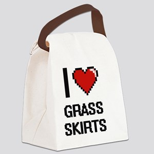 I love Grass Skirts digital desig Canvas Lunch Bag