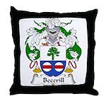Becerill Family Crest Throw Pillow