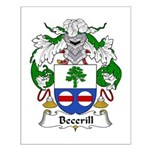 Becerill Family Crest Small Poster