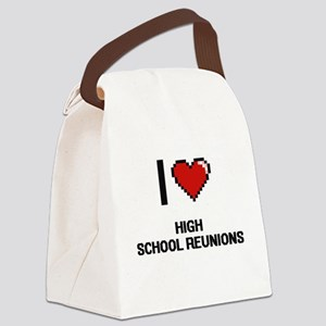 I love High School Reunions digit Canvas Lunch Bag