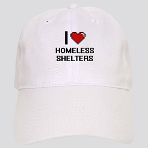 I love Homeless Shelters digital design Cap