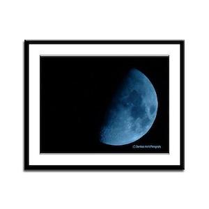 Blue Moon Framed Panel Print
