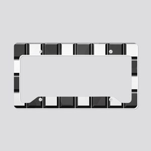 Chess Board License Plate Holder