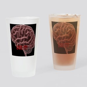 Brain enough Drinking Glass