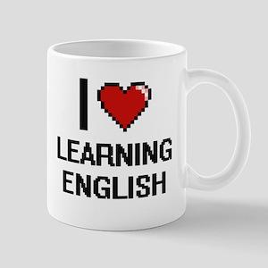 I love Learning English digital design Mugs