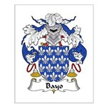 Bayo Family Crest Small Poster