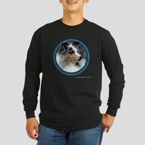 Sheltie Art Long Sleeve Dark T-Shirt