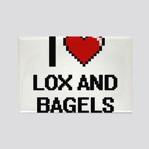 I love Lox And Bagels digital design Magnets