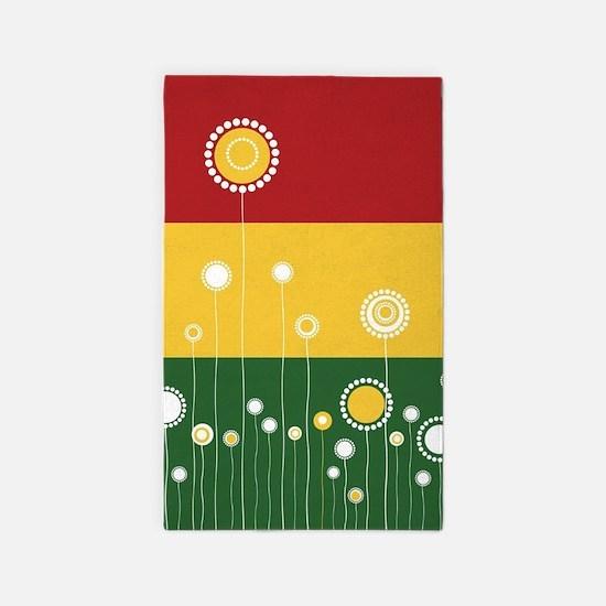 Trendy Floral Pattern Ilustration Area Rug