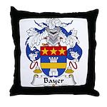 Bayer Family Crest Throw Pillow