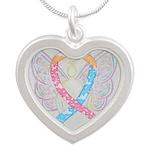 CDH Awareness Ribbon Angel Necklaces
