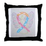 CDH Awareness Ribbon Angel Throw Pillow