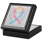 CDH Awareness Ribbon Angel Keepsake Box