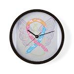 CDH Awareness Ribbon Angel Wall Clock