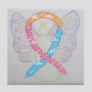 CDH Awareness Ribbon Angel Tile Coaster