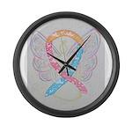 CDH Awareness Ribbon Angel Large Wall Clock