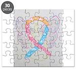 CDH Awareness Ribbon Angel Puzzle