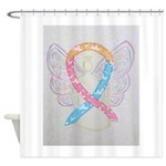 CDH Awareness Ribbon Angel Shower Curtain