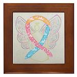 CDH Awareness Ribbon Angel Framed Tile