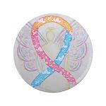 CDH Awareness Ribbon Angel Button