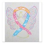 CDH Awareness Ribbon Angel Square Car Magnet 3