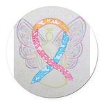 CDH Awareness Ribbon Angel Round Car Magnet