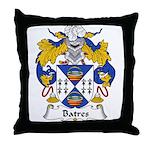 Batres Family Crest Throw Pillow