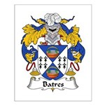 Batres Family Crest Small Poster