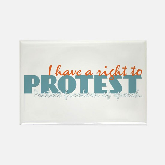 Freedom of Speech Rectangle Magnet