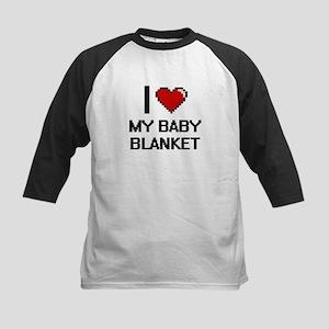 I love My Baby Blanket digital des Baseball Jersey