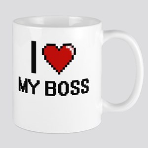 I love My Boss digital design Mugs
