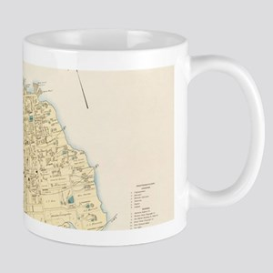 Vintage Map of Bar Harbor Maine (1897) Mugs