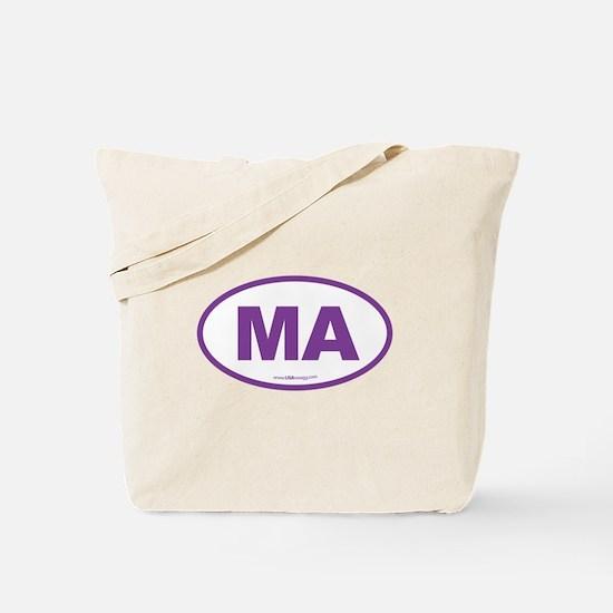 Massachusetts Euro Oval Green Tote Bag