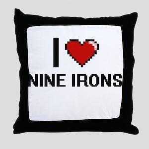 I love Nine Irons digital design Throw Pillow