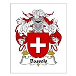 Bassols Family Crest Small Poster