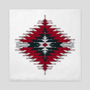 Native Style Red/Black Sunburst Queen Duvet