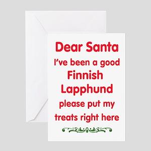 Good Finnish Lapphund Greeting Cards