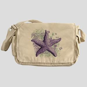 Timeless Purple Starfish Messenger Bag