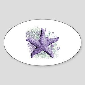 Timeless Purple Starfish Sticker (Oval)