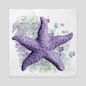 Timeless Purple Starfish Queen Duvet