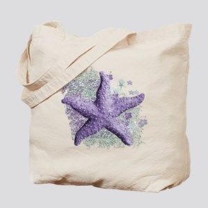 Timeless Purple Starfish Tote Bag