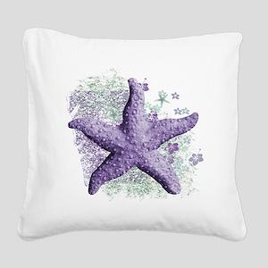 Timeless Purple Starfish Square Canvas Pillow
