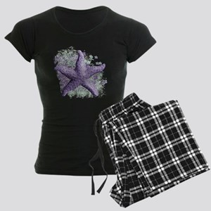 Timeless Purple Starfish Women's Dark Pajamas