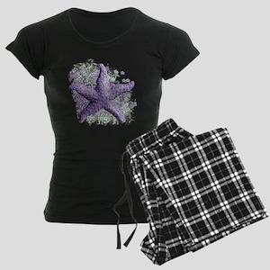 Timeless Purple Starfish Women's Dark Pajamas