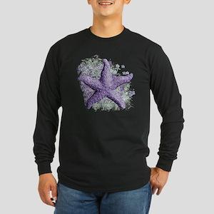 Timeless Purple Starfish Long Sleeve Dark T-Shirt